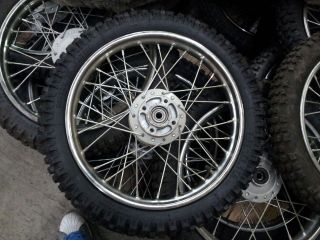 Pitbike Front Wheel 2.50 x 14 Silver (Pair 2 x Tires) Pit Bike