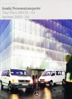 2000 mercedes benz sprinter vito german sales brochure time left