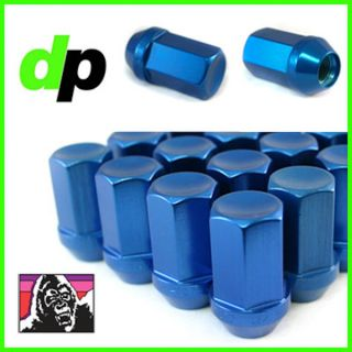 Gorilla Anodized Blue Aluminum Racing Wheel/Lug Nuts, Closed Acorn