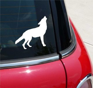 WOLF BODY SILHOUETTE WOLVES DOG DOGS HOWL GRAPHIC DECAL STICKER VINYL