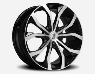 LEXANI LUST BLACK / MACHINED FACE 5x100 / 5x4.5 5x114.3 WHEEL RIM