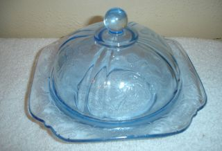 carnival glass butter dish in Contemporary (1940 Now)
