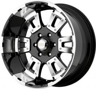 18 inch x10 Diamo 17 Karat black wheels rims 8x6.5 / Hummer H2 Dodge