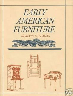Antique Early American Furniture Types with Line Drawings