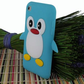Newly listed Baby Blue Penguin Silicone Soft Case Cover Skin For Apple