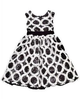 New Girls Rare Editions 6x Black White Sequins Dress Christmas Holiday