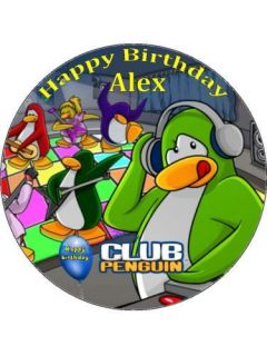 personalised club penguin icing cake top topper more