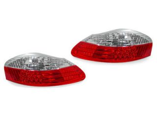 97 04 PORSCHE BOXSTER S 986 EURO RED/CLEAR LED TAIL LIGHTS TAILLIGHTS