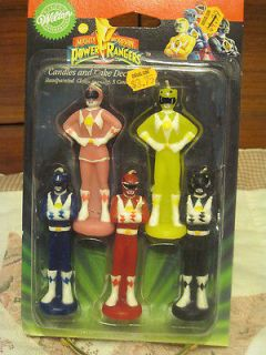 MIGHTY MORPHIN POWER RANGERS CANDLE AND CAKE DECORATION VINTAGE 1994