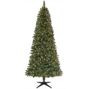 Home Holiday 7.5 ft. Pre Lit Slim Wesley Pine Christmas Tree Lights