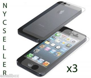 3x Full Body Front+Back Screen Protector For Apple iPhone 5 5th Gen