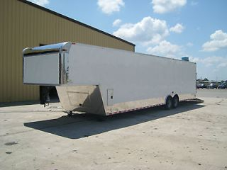 5x36 gooseneck enclosed cargo auto car hauler race trailer