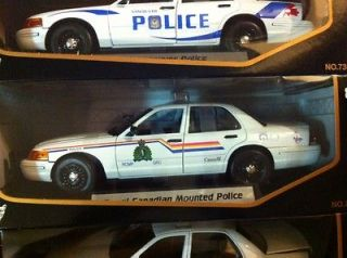 RCMP 118 1/18 scale diecast motormax police car mountie RARE Crown