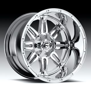 18 FUEL OFFROAD Hostage Wheel SET Chrome 18x12 FUEL DEEP LIP SERIES
