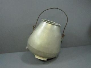 Vintage Cream Separator Bucket Heavy Cast Aluminum Bucket Round Bottom