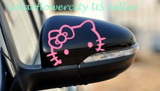 hello kitty car rear mirror decal stickers 2pcs us seller
