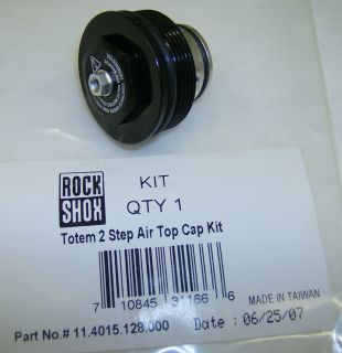 New Rock Shox Totem 2 Step Suspension Fork Air Top Cap Kit