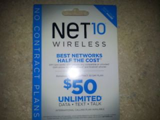 Pack of 100x NET10 SIM CARDS. Great for GSM AT&T Phones. ONE DAY