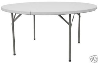 new lightweight 60 round plastic folding table