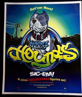 NEW HOOD HOUNDS Poster Sly the Blue Nose Pitbull Pit Bull Terrier Dog