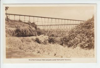 Water Floam Sugar Cane Transport Mill Old RPPC Postcard Vintage Real
