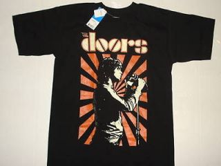 THE DOORS ROCK POP BAND VTG BLACK NEW T SHIRT MEDIUM JIM MORRISON