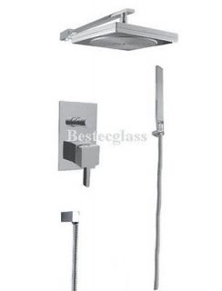 square rain style bath wall mounted tub shower faucet time