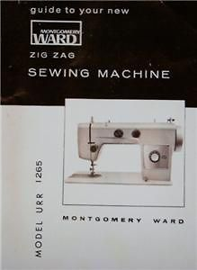 montgomery ward urr 1265 sewing machine manual on cd one