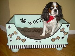 newly listed custom solid wood dog bed