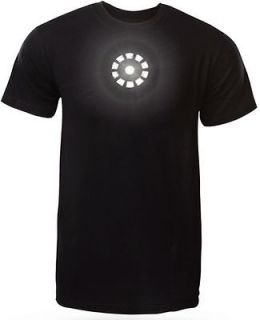 iron man tony stark led light up t shirt large black