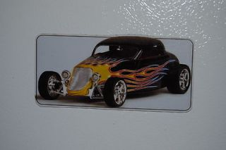 1933 Ford Coupe Hot Rod Refrigerator/T​ool Box Magnet 5x2