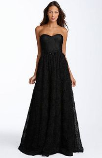 adrianna papell strapless rosette ball gown in Dresses