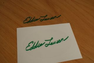 eddie lawson signature decal green from united kingdom time left