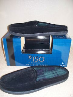 ISOTONER MENS BLACK CLOGS SCUFFS INDOOR OUTDOOR SLIPPERS SIZE XXL 2XL