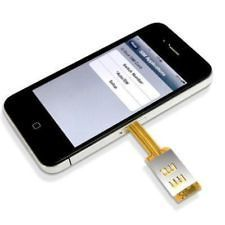 newly listed dual sim card adapter for iphone 4 n