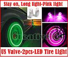 2x Car/Motorcycle Wheel Tyre Tire Valve Caps Covers LED Lights Bulb