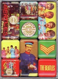 Beatles Sgt Pepper set of 9 mini fridge magnets (hb) from England