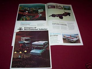 1969 CHEVROLET PICKUP TRUCK, VAN, CAMPERS, BROCHURE, SALES CATALOG