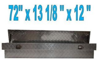 aluminum truck pickup side mount tool box 72x13 1 8x12