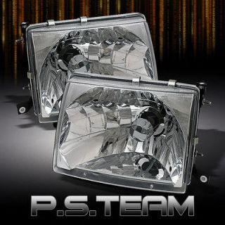 97 00 TOYOTA TACOMA PICKUP TRUCK 2WD 4WD CLEAR CRYSTAL HEADLIGHTS
