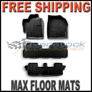 2011 2012 Toyota Sienna MAXFLOORMAT Floor Mats Full Set All Rows Black