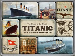 titanic set of 9 mini fridge magnets na from england