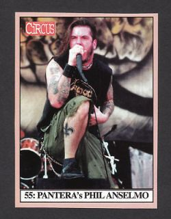 pantera phil anselmo scarce circus magazine rock card b from