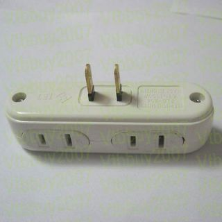 US AC power splitter to 4 port Power Socket Outlet Receptacle adapter
