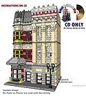 Westminster Row Town House Instructions CD Custom Lego ® 10218 10224