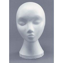 wig hat stand  9 52  polystyrene mannequin wig