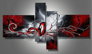 4pcs Huge Modern Abstract on Canvas Oil Painting Art (No frame) + free