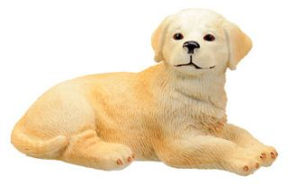 GOLDEN RETRIEVER DOG PUPPY FIGURINE.LIFELIKE STATUE.LITTLE PUP FIGURE