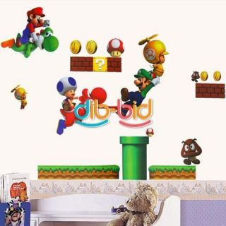 New Super Mario Bros PVC Removable Wall Sticker Home Decor For Kids