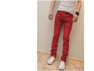 NEW Fashion Mens casual Skinny Stretch JEANS Pencil Pants Free ship